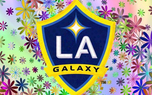 Sports LA Galaxy Soccer Club MLS Logo Emblem HD Wallpaper   Background Image