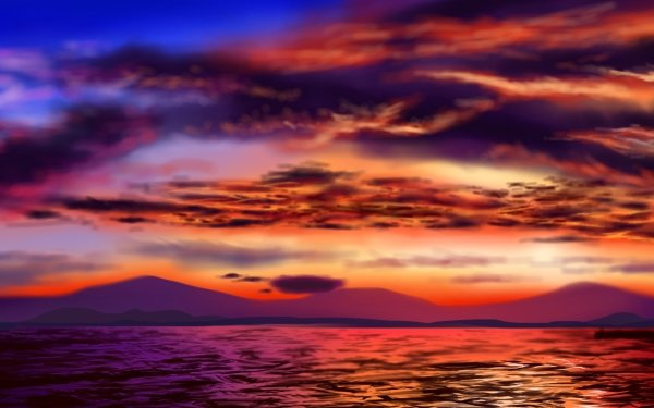 Earth Sunset HD Wallpaper   Background Image