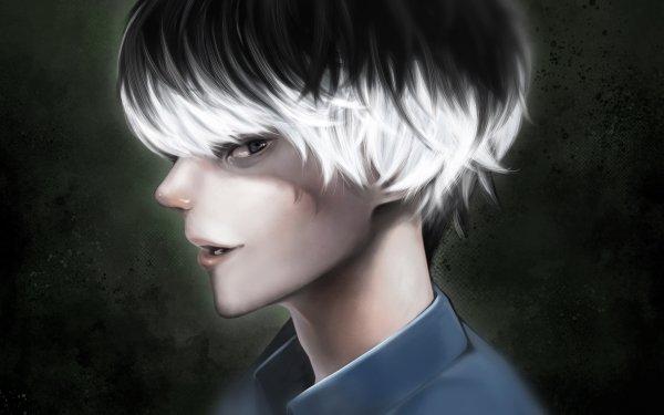 Anime Tokyo Ghoul:re Haise Sasaki Ken Kaneki Tokyo Ghoul White Hair Grey Hair Close-Up HD Wallpaper   Background Image