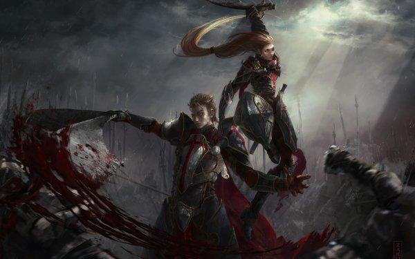 Fantasy Battle Zauk Kuga HD Wallpaper | Background Image