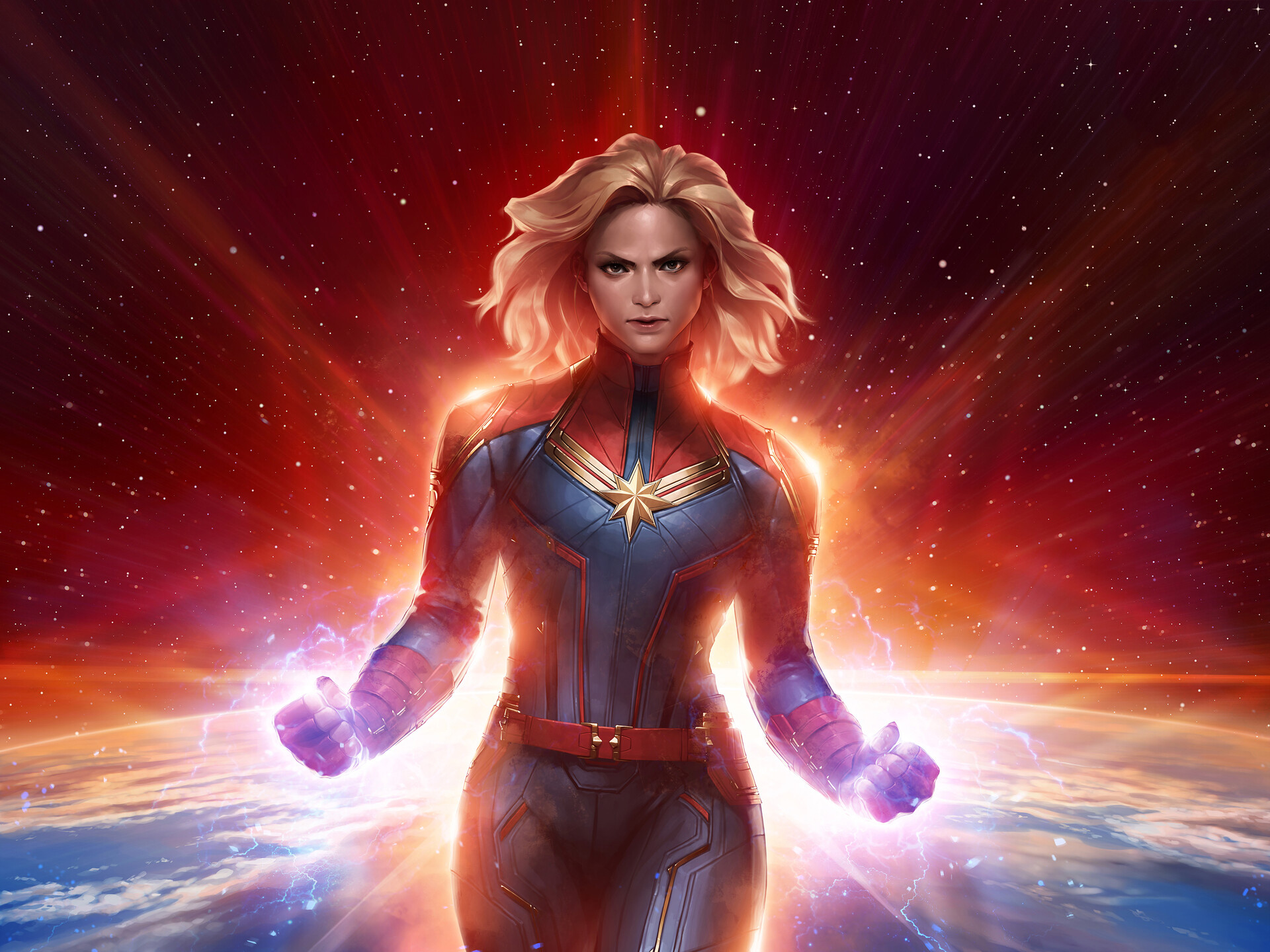 Captain Marvel Hd Wallpaper Background Image 1920x1440 Id 994428 Wallpaper Abyss