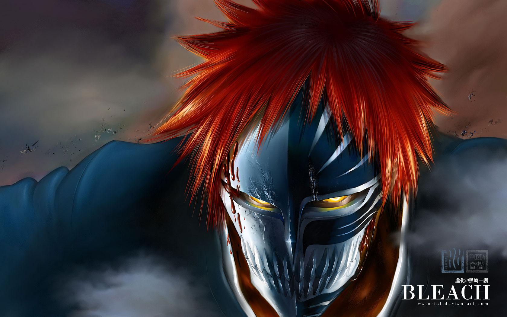 ...'Блич / Bleach' в форме пустого с маской на все лицо 1680x1050, аниме.
