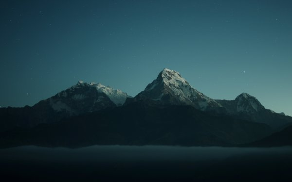 Earth Night Mountain Nepal HD Wallpaper   Background Image