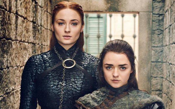 TV Show Game Of Thrones Sansa Stark Arya Stark Sophie Turner Maisie Williams HD Wallpaper | Background Image