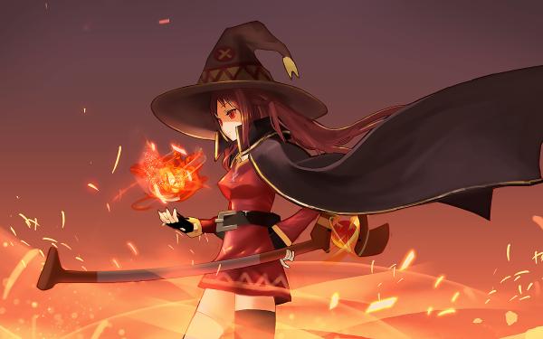 Anime KonoSuba – God's blessing on this wonderful world!! Megumin KonoSuba HD Wallpaper   Background Image