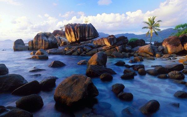 Tierra/Naturaleza Rock Seychelles Fondo de pantalla HD | Fondo de Escritorio