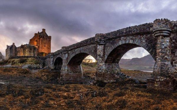Man Made Eilean Donan Castle Castles United Kingdom Castle Scotland Bridge HD Wallpaper | Background Image
