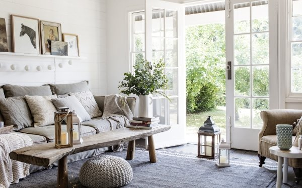 Man Made Room Living Room Sofa Furniture HD Wallpaper | Background Image