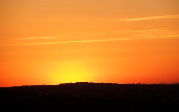 Earth Sunset orange Algeria Africa Sky Landscape Nature HD Wallpaper | Background Image